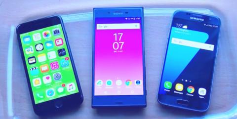 Porównanie szybkości pracy Sony Xperia XZ vs Galaxy S7, iPhone 7 i Google Pixel.